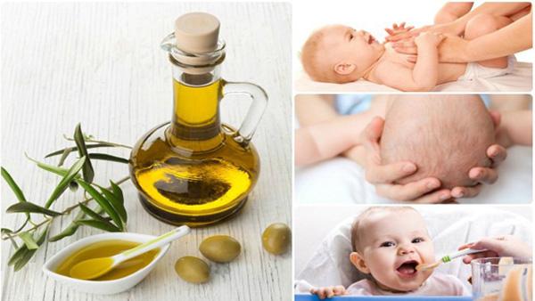 Sai lâm khi massage dầu oliu cho trẻ